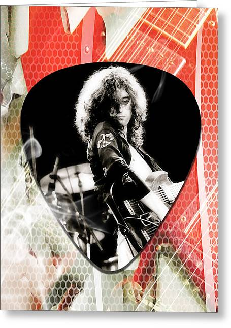 Jimmy Page Led Zeppelin Art Greeting Card by Marvin Blaine