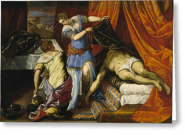 Judith And Holofernes Greeting Card by Tintoretto