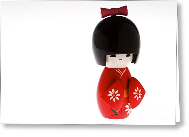 Kokeshi Doll Greeting Card by Larry Dale Gordon - Printscapes