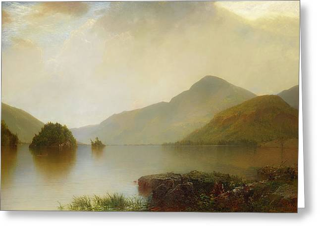 Lake George Greeting Card by John Frederick Kensett