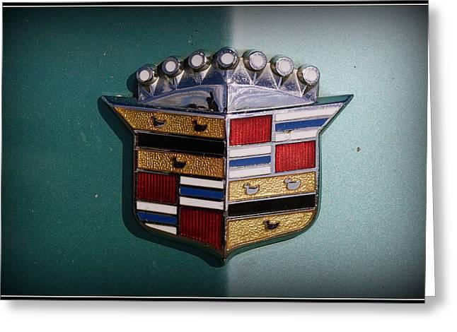 Vintage Cadillac Emblem Greeting Card