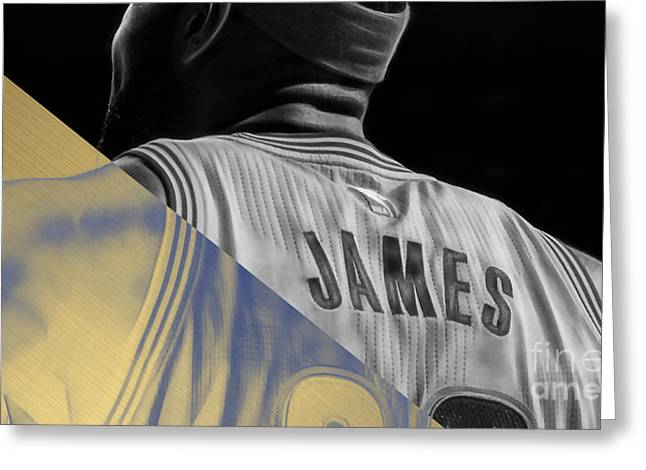 Lebron James Collection Greeting Card