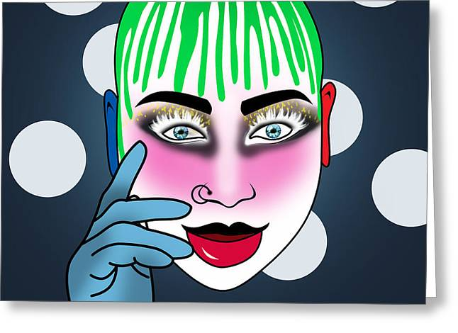 Leigh Bowery  Greeting Card by Mark Ashkenazi