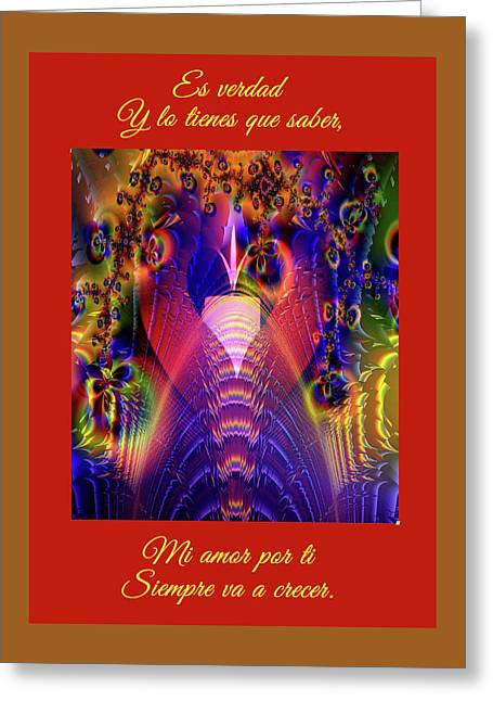 Light Of Eternal Peace And Love Greeting Card