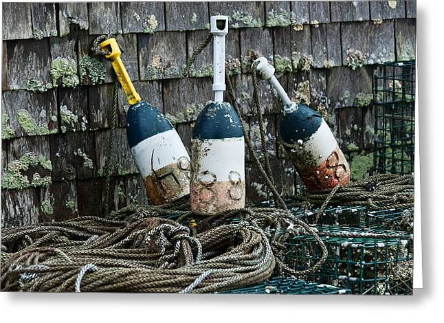 Lobster Buoys Greeting Card