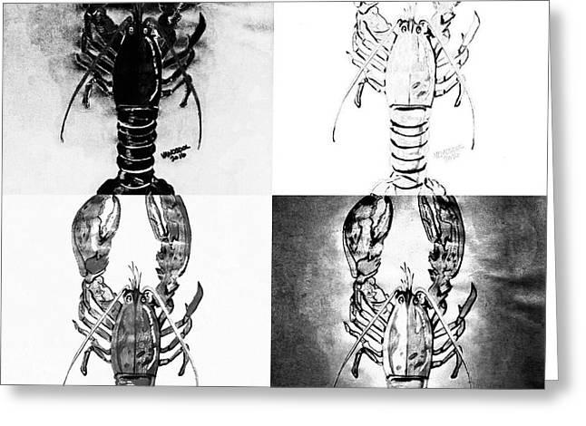 Lobster Quilt Greeting Card by Scott D Van Osdol
