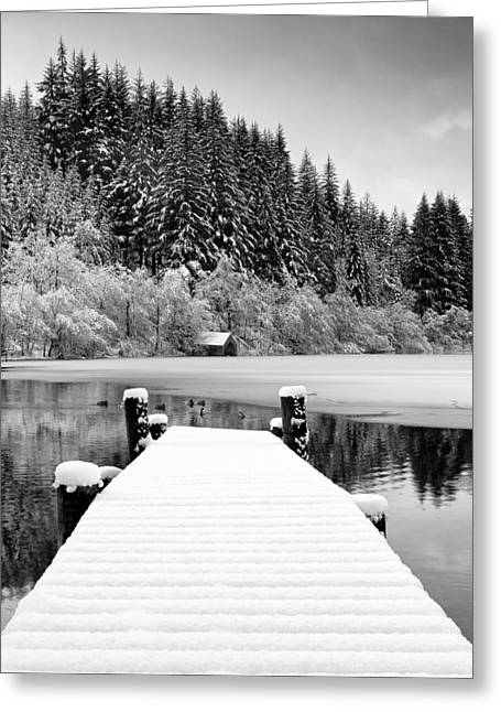 Loch Ard Winter Scene Greeting Card