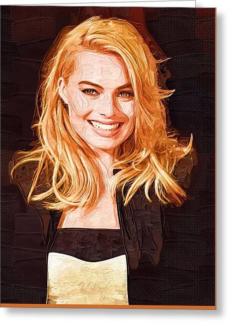 Margot Robbie Painting Greeting Card