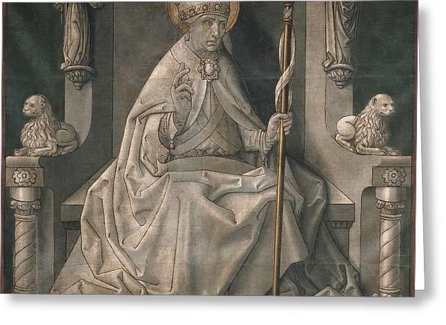 Master Of La Seu Urgell Greeting Card by MotionAge Designs