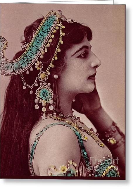 Mata Hari Greeting Card