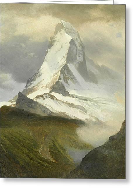 Matterhorn Greeting Card by Albert Bierstadt