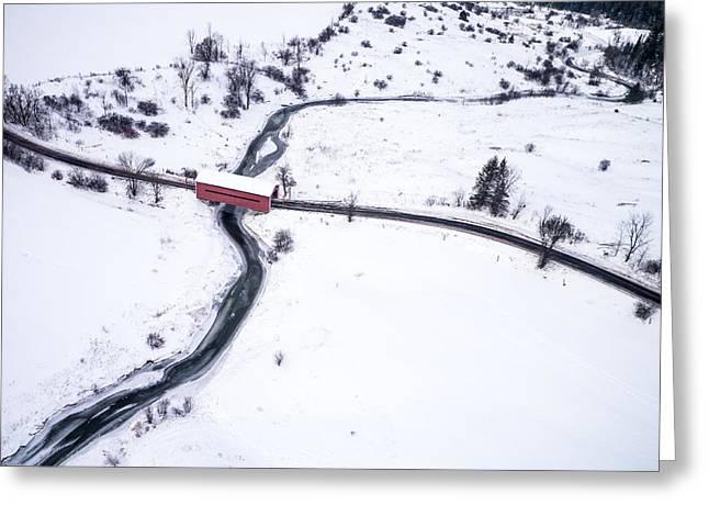 Meech Creek Covered Bridge Greeting Card by Rob Huntley