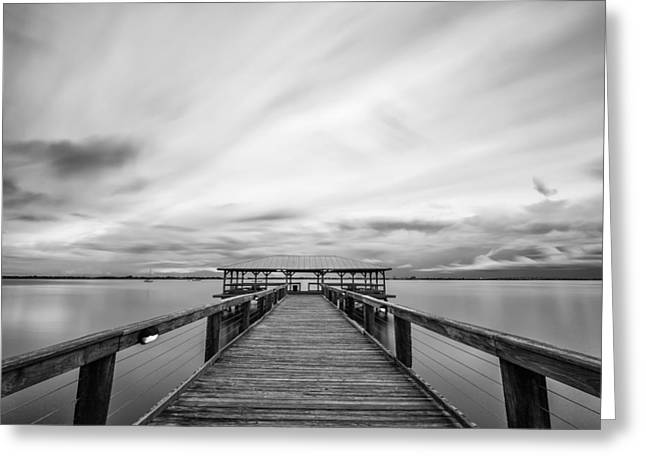 Melbourne Beach Pier Sunset Greeting Card
