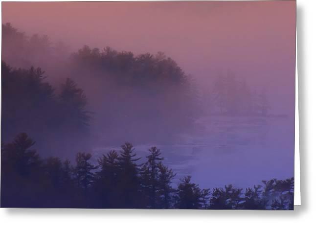 Melvin Bay Fog Greeting Card