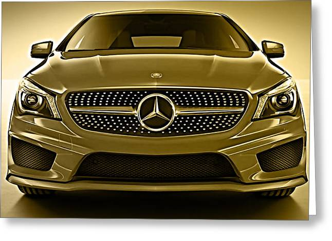 Mercedes Cla Class Coupe Collection Greeting Card by Marvin Blaine