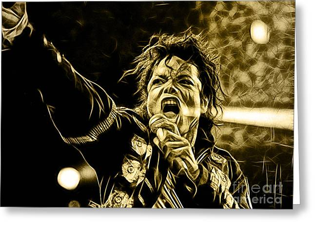 Michael Jackson Collection Greeting Card by Marvin Blaine