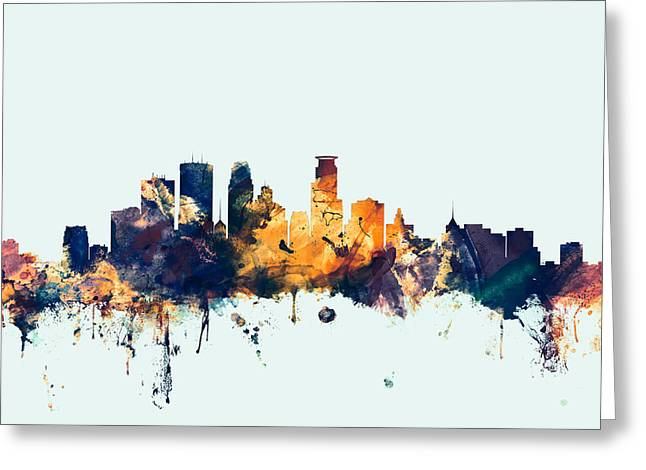 Minneapolis Minnesota Skyline Greeting Card