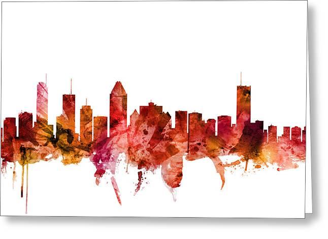Montreal Canada Skyline Greeting Card