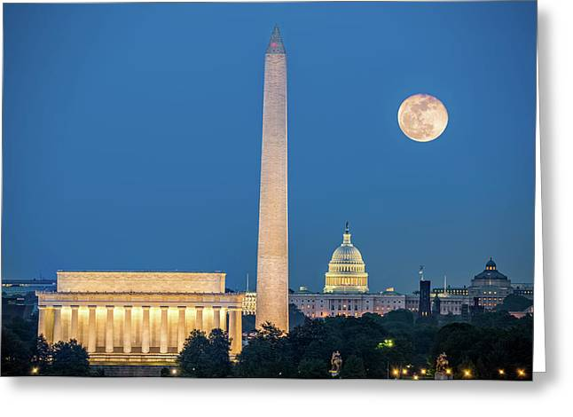 4 Monuments Greeting Card