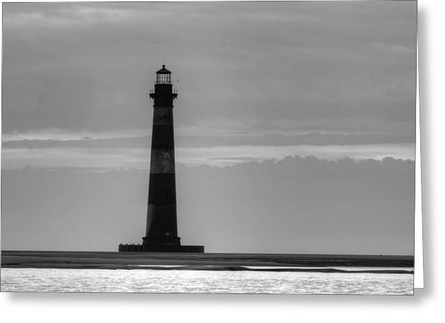 Morris Island Lighthouse Greeting Card by Dustin K Ryan