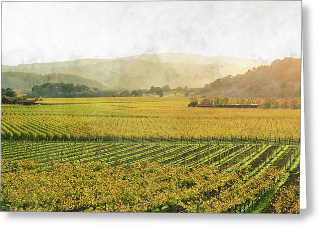 Napa Valley California In Autumn Greeting Card by Brandon Bourdages