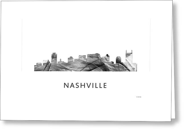 Nashville Tennessee Skyline Greeting Card by Marlene Watson