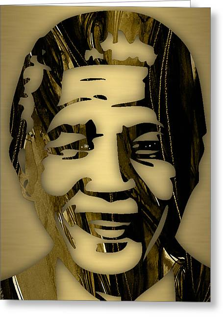 Nelson Mandela Collection Greeting Card by Marvin Blaine