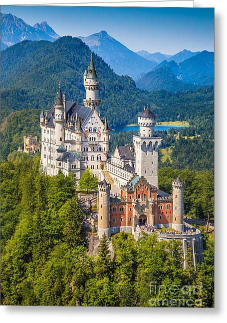 Neuschwanstein Fairytale Castle Greeting Card