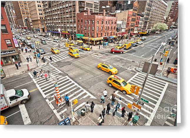 New York City Greeting Card by Luciano Mortula