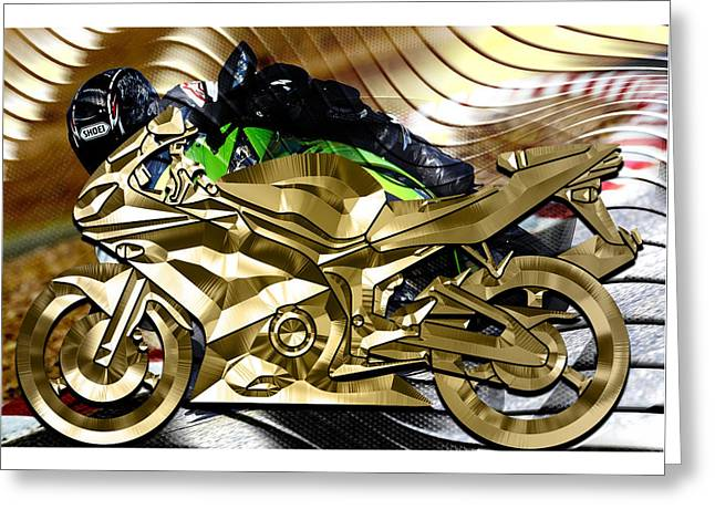 Ninja Motorcycle Collection Greeting Card by Marvin Blaine