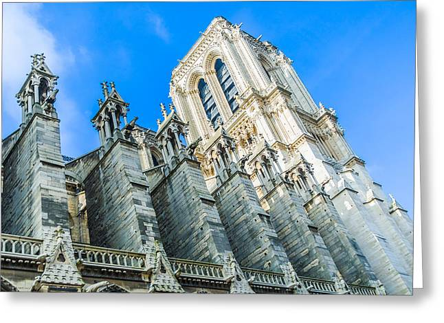 Notre Dame Cathedral Bell Tower Greeting Card by Nila Newsom