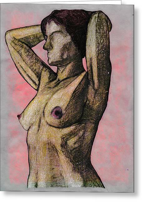 Nude Woman Greeting Card
