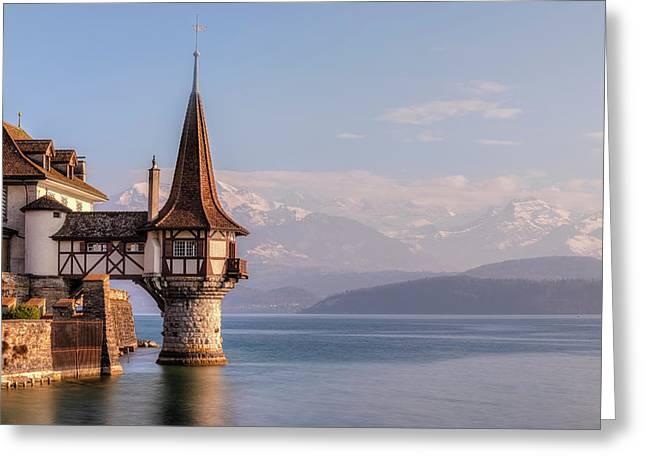 Oberhofen - Switzerland Greeting Card by Joana Kruse