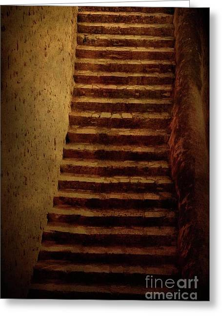 Old Stairs Greeting Card by Mythja Photography