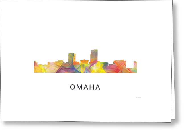 Omaha Nebraska Skyline Greeting Card by Marlene Watson