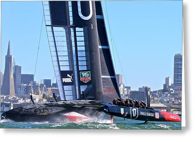 Oracle America's Cup 34 Greeting Card