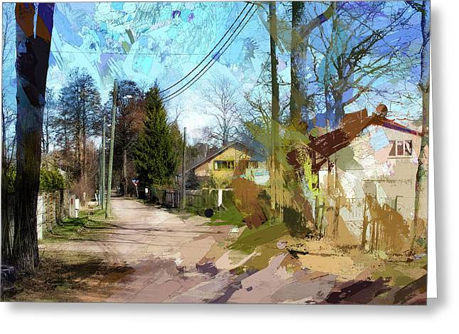 Outskirts Of A Small Town Greeting Card