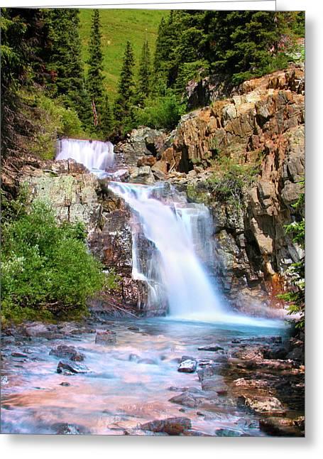 River View Greeting Cards - Paradise Falls Greeting Card by Crystal Garner
