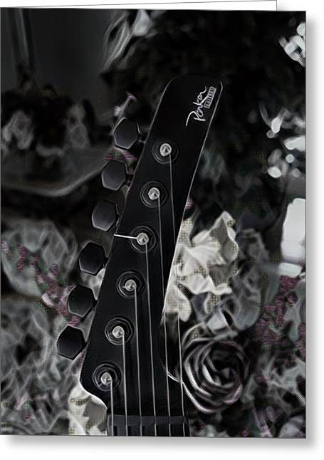 Parker Fly Guitar Headstock Greeting Card