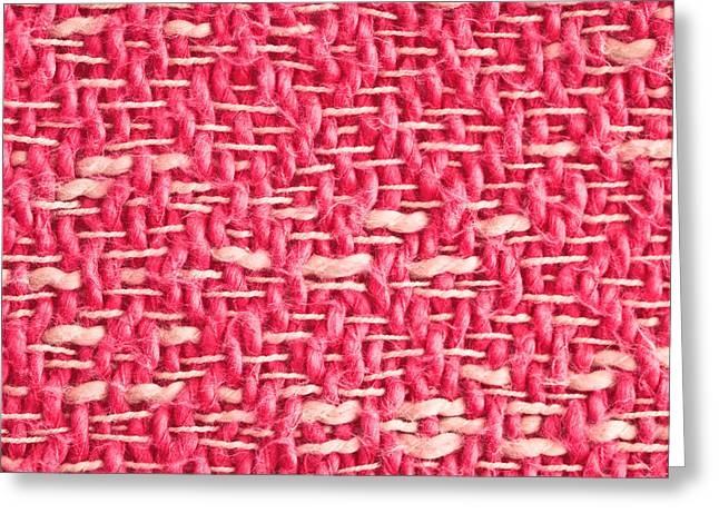 Pink Wool Greeting Card by Tom Gowanlock