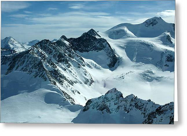 Pitztal Glacier Greeting Card