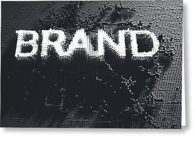 Pixel Brand Concept Greeting Card by Allan Swart