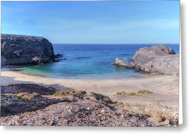 Playa Papagayo - Lanzarote Greeting Card