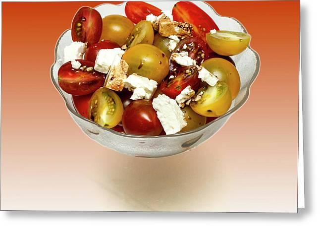 Plum Cherry Tomatoes Greeting Card