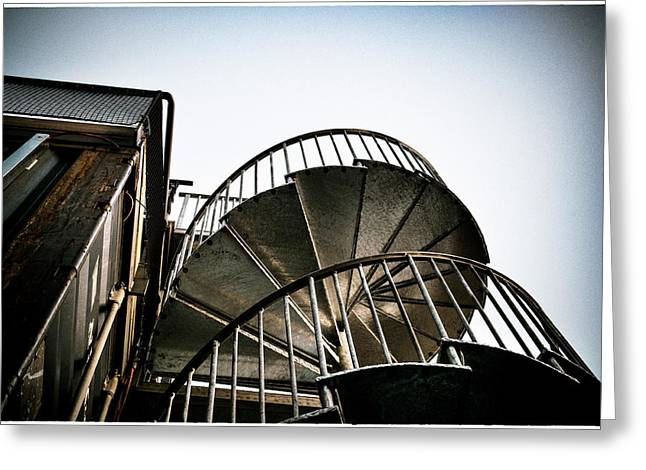 Pop Brixton - Spiral Staircase - Industrial Style Greeting Card