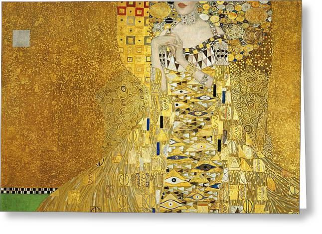 Portrait Of Adele Bloch-bauer I Greeting Card by Gustav Klimt