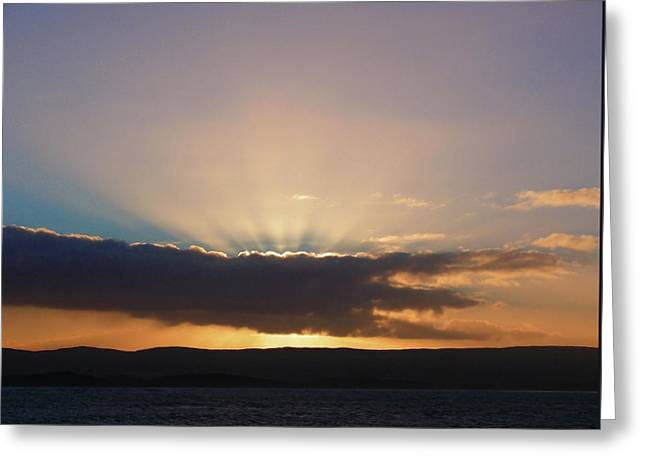 Greeting Card featuring the photograph Portstewart Sunset by Colin Clarke