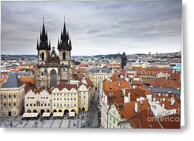 Prague Old Town Square Greeting Card by Andre Goncalves