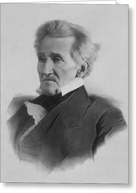 President Andrew Jackson Greeting Card by War Is Hell Store