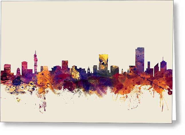 Pretoria South Africa Skyline Greeting Card by Michael Tompsett